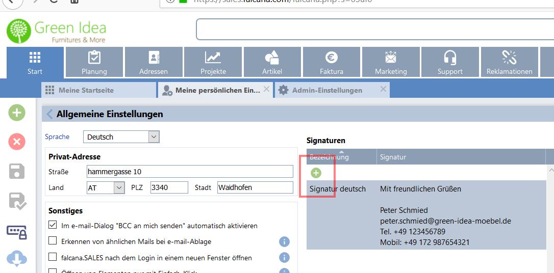 E Mail Signatur Als Standard Text Für Rechnungen Angebote Abs