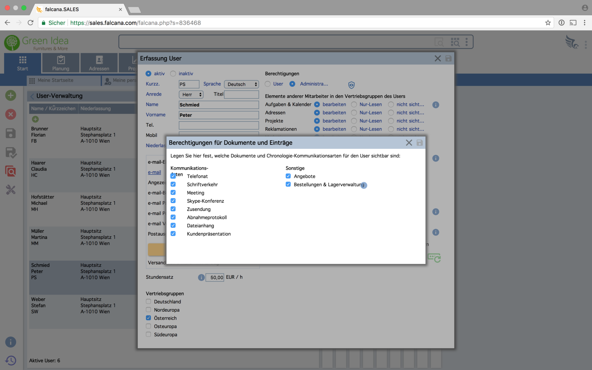 Software Für Crm Kontakte Kundenverwaltung Falcana Sales