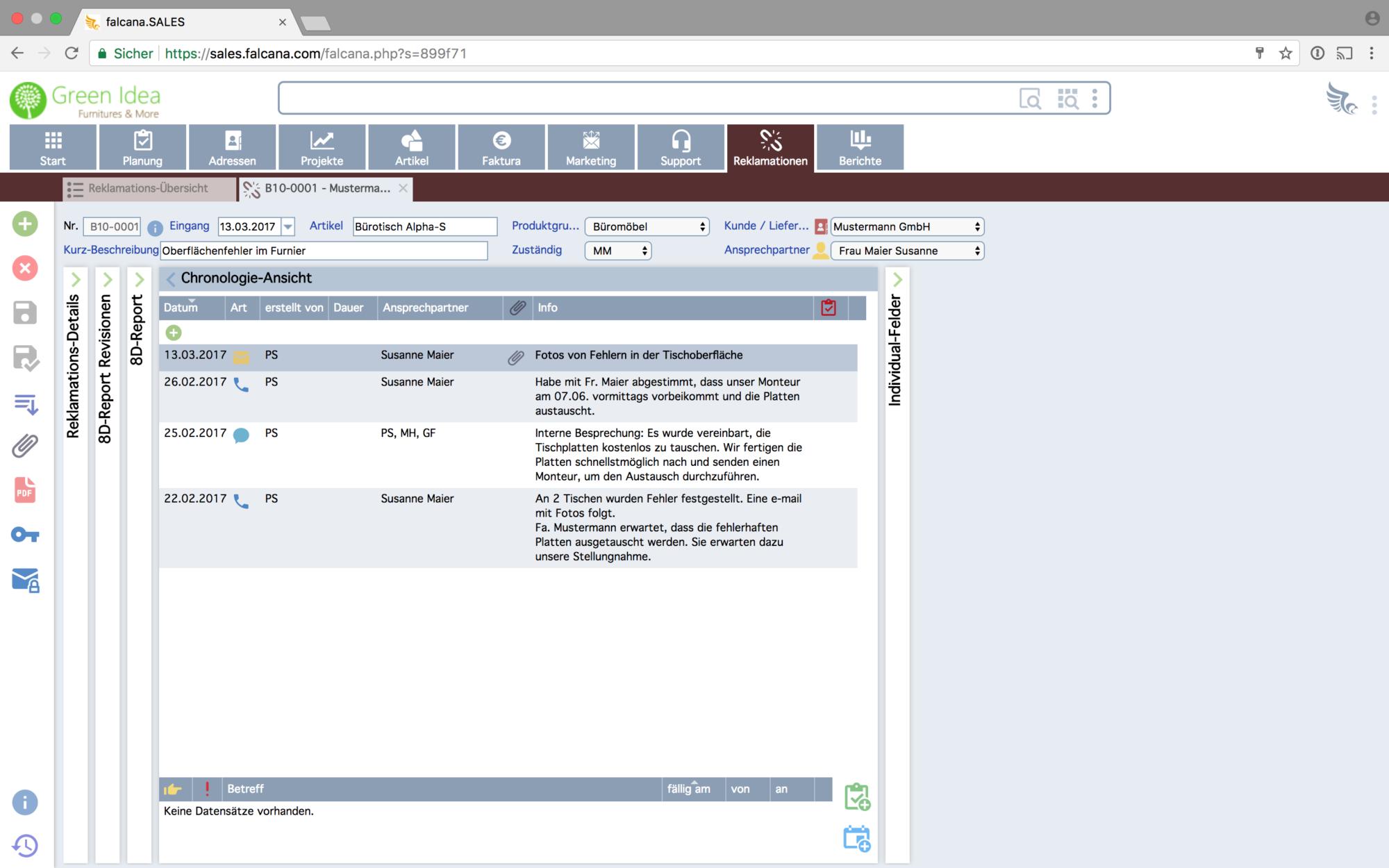 Musterbriefe Reklamationen Beantworten : Software für reklamationen und support falcana sales