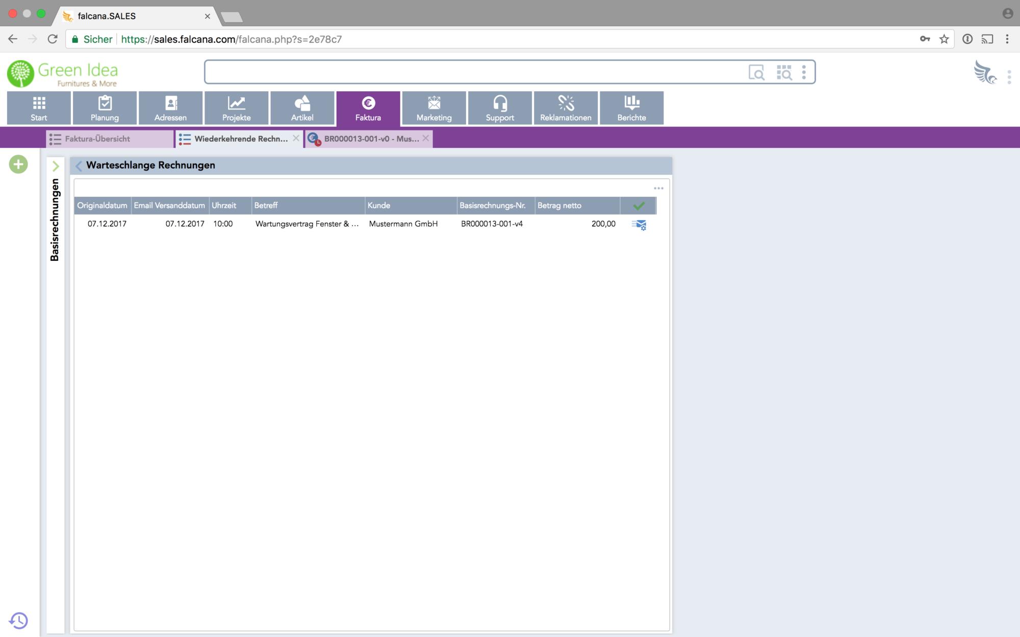 Software Für Rechnungen Mahnungen Auftragsbestätigungen Falcana